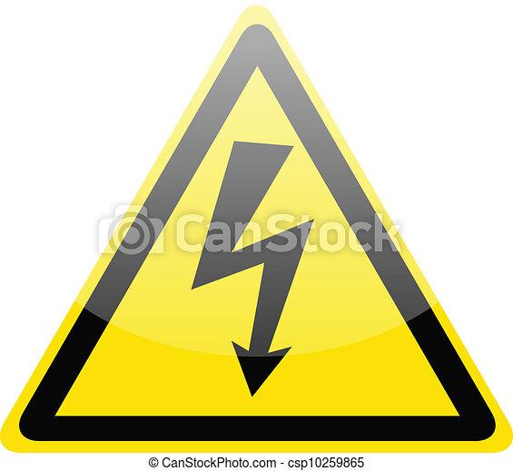 Sign of danger high voltage symbol - csp10259865