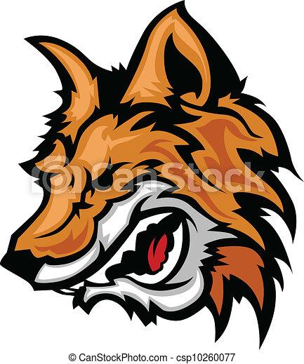 Snarling Fox Mascot Vector Graphic - csp10260077