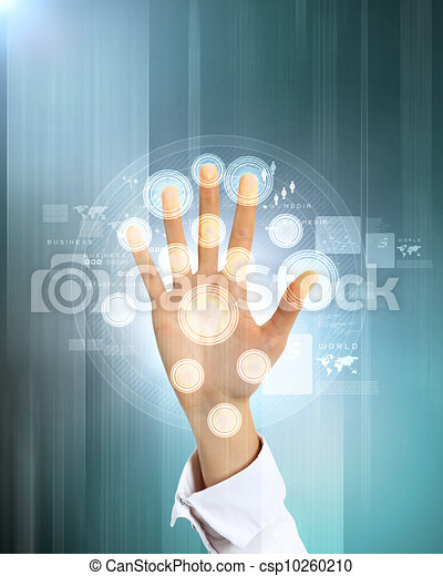 Virtual technology in business - csp10260210