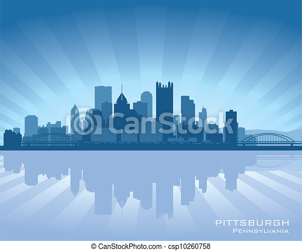 Pittsburgh Skyline Drawing Pennsylvania Skyline Stock