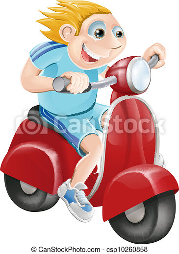 Happy man on his moped - csp10260858