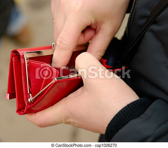 Stock Photography of Where is my salary - Male hands with red ...