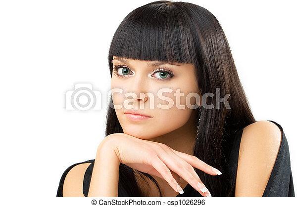 charming brunette - csp1026296