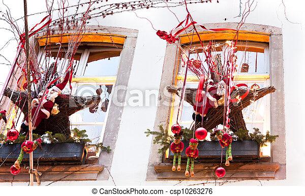Image de fenetres no l d coration csp10263276 for Decoration fenetre exterieur noel
