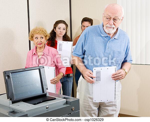 Confused Senior Voter - csp1026329