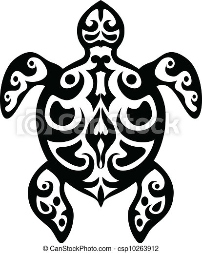 clip art vecteur de tortue tatouage tribal vecteur illustration de csp10263912. Black Bedroom Furniture Sets. Home Design Ideas
