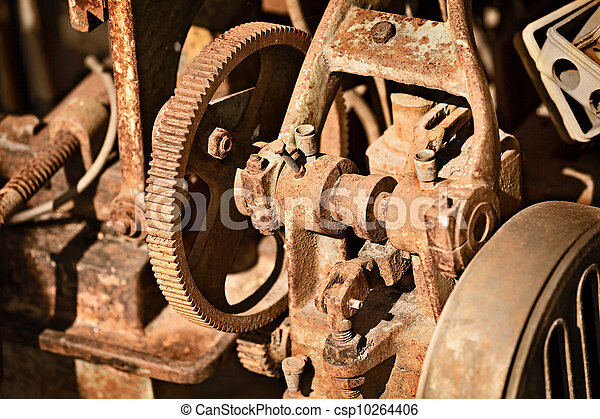 Rusty metal mechanism - csp10264406