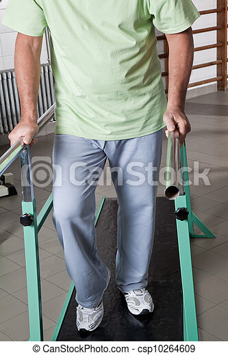 Senior Man having ambulatory therapy - csp10264609