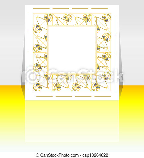 Presentation of flyer design content background - csp10264622