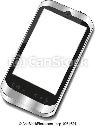 Abstract touchscreen smart phone - csp10264624