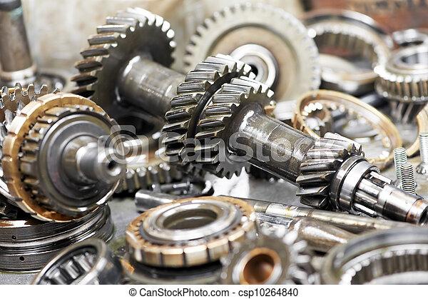 moteur,  Automobile, gros plan, engrenages - csp10264840