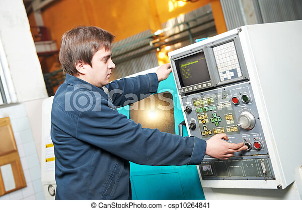 worker at tool workshop - csp10264841