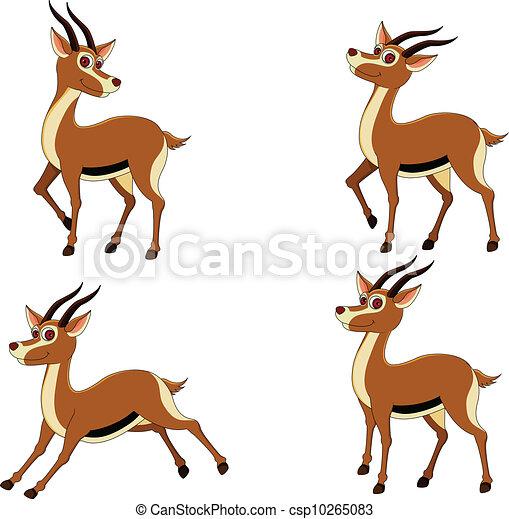 Vecteur de rigolote expressions divers gazelle vecteur csp10265083 recherchez des - Gazelle dessin ...