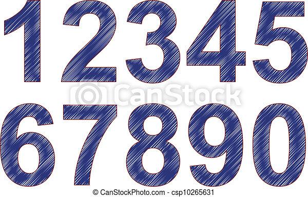 numbers scribble - csp10265631
