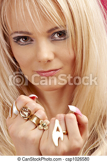 aggressive golden jewelry girl #2 - csp1026580