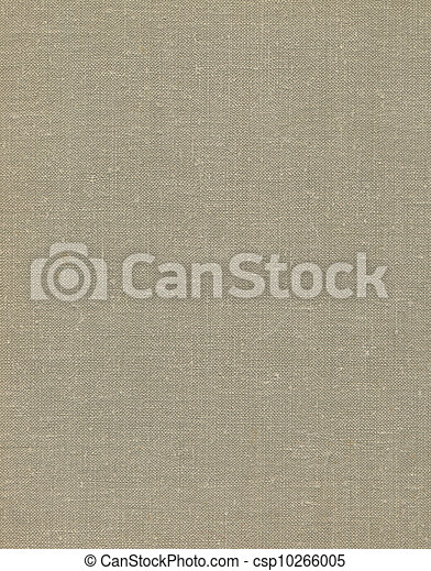 Natural vintage linen burlap textured fabric texture, detailed old grunge rustic background in tan, beige, yellowish, grey copy space - csp10266005