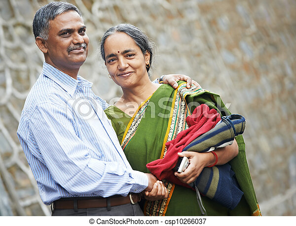 Happy indian adult people couple - csp10266037