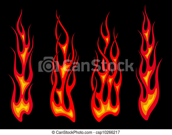 Long tribal flames - csp10266217