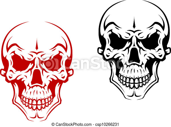 Vecteurs de humain cr ne pour horreur ou halloween - Dessin horreur ...