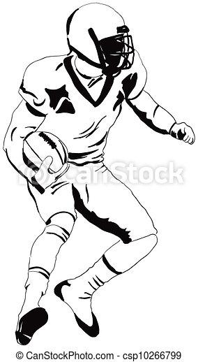Illustration de joueur am ricain football am ricain - Dessin football americain ...