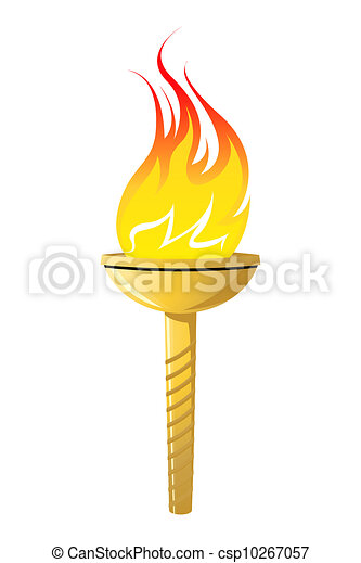 Olympic torch icon - csp10267057