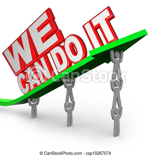 together we can do it clipart