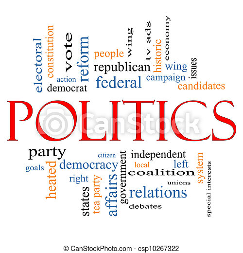 Politics Word Cloud Concept - csp10267322