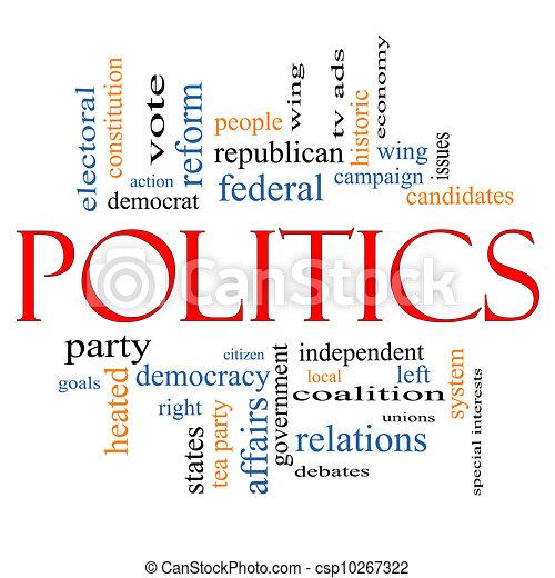 Politics Word Cloud Concept - csp10267322