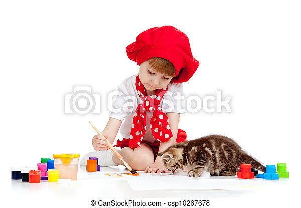 儿童脸部彩绘猫