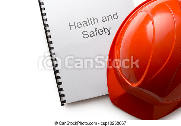Health and safety register with helmet - csp10268667