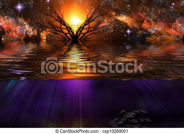 Tranquil Scene - csp10269001