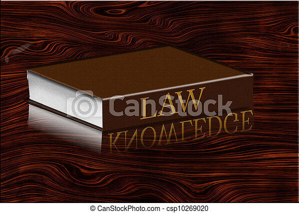 Law book reflects knowledge in desktop - csp10269020
