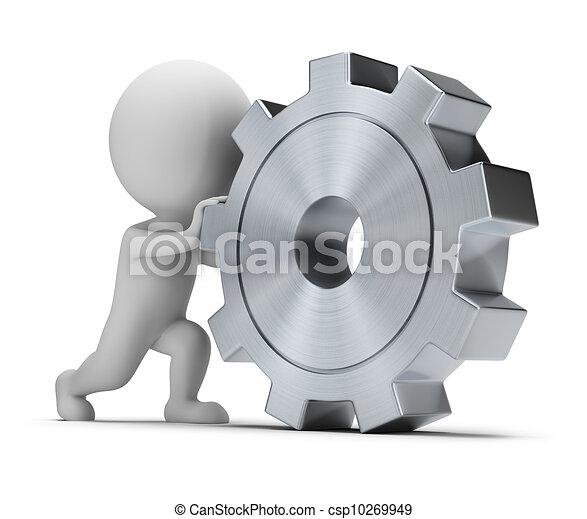 3d small people - rolls gear - csp10269949