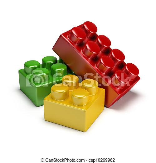 plastic toy blocks - csp10269962
