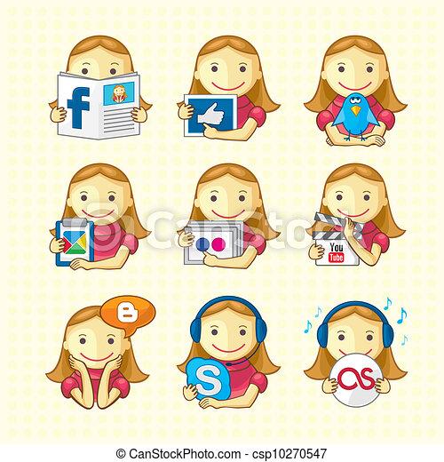 Design Elements - Social Icons Set - csp10270547
