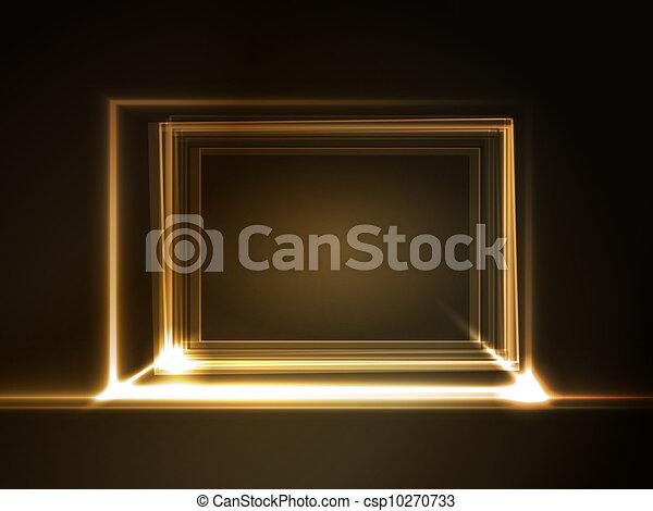 长方形, 框架, 光
