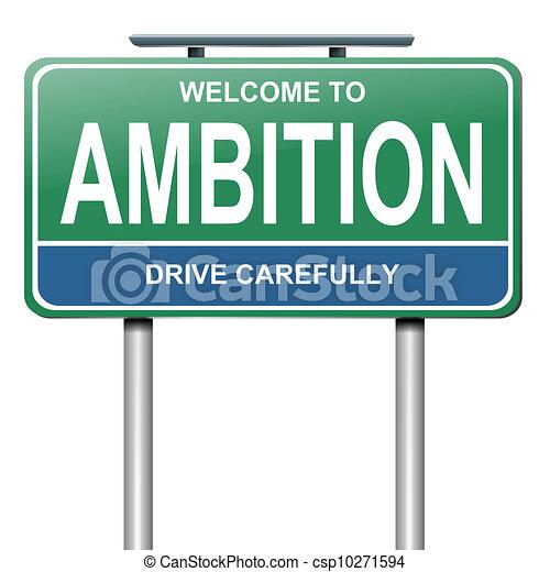 Ambition concept, - csp10271594