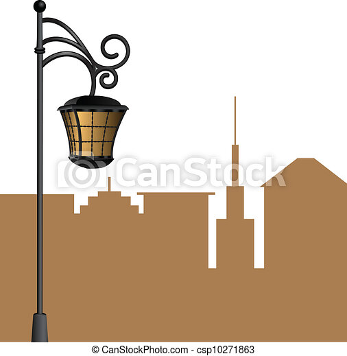 Street Lamp Background Vector Street Lamp With