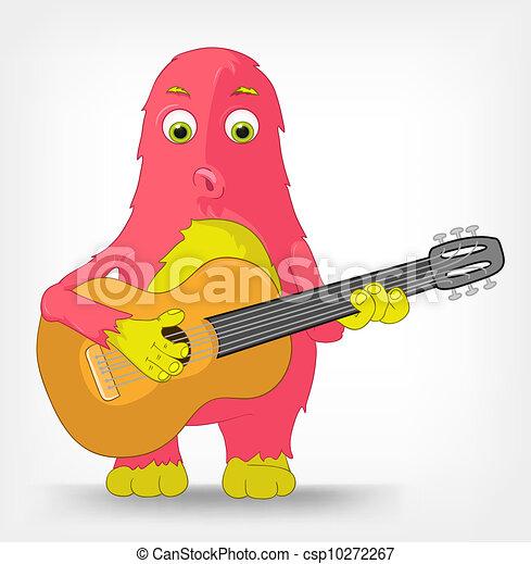 手举吉他背影头像