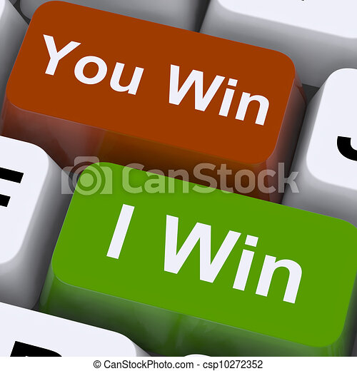 You Or I Win Keys Show Gambling Or Victory - csp10272352