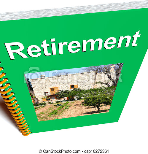 Retirement Book Shows Advice For Pensioners - csp10272361