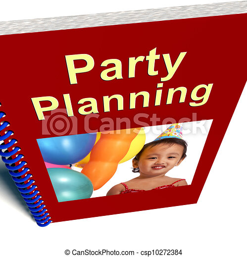 Party Planning Book Shows Celebration Organization - csp10272384