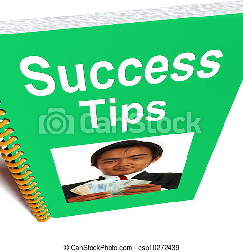 Success Tips Book Shows Wealth And Achievement - csp10272439