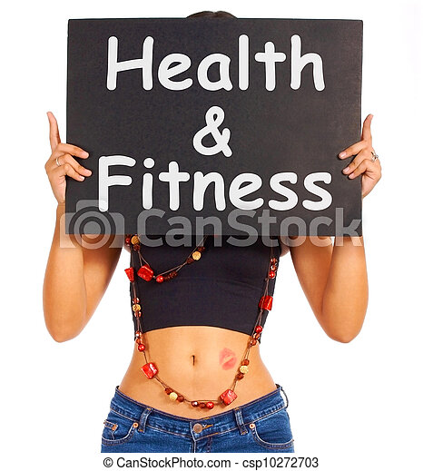 Health And Fitness Sign Shows Exercise For Getting Healthy - csp10272703