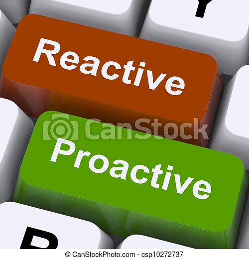 Proactive And Reactive Keys Show Initiative And Improvement - csp10272737