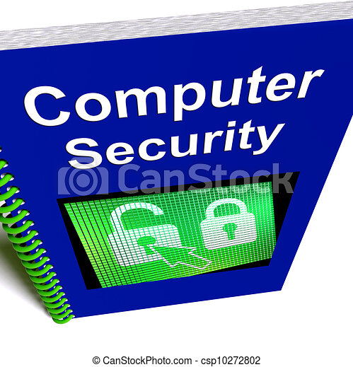 Stock Illustration of Computer Security Book Shows ...