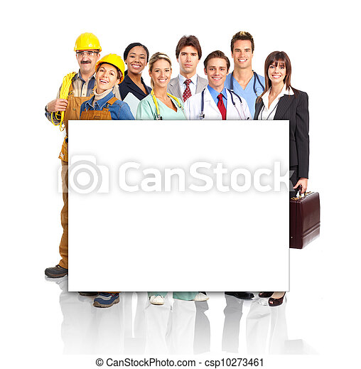 Group of industrial workers. - csp10273461