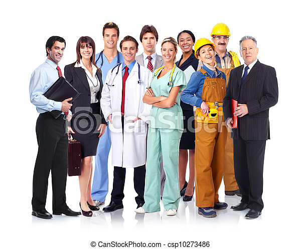 Group of industrial workers. - csp10273486