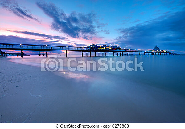 The pier of Heringsdorf at sunset - csp10273863