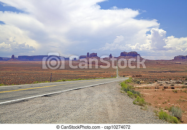 Approaching Monument Valley - csp10274072